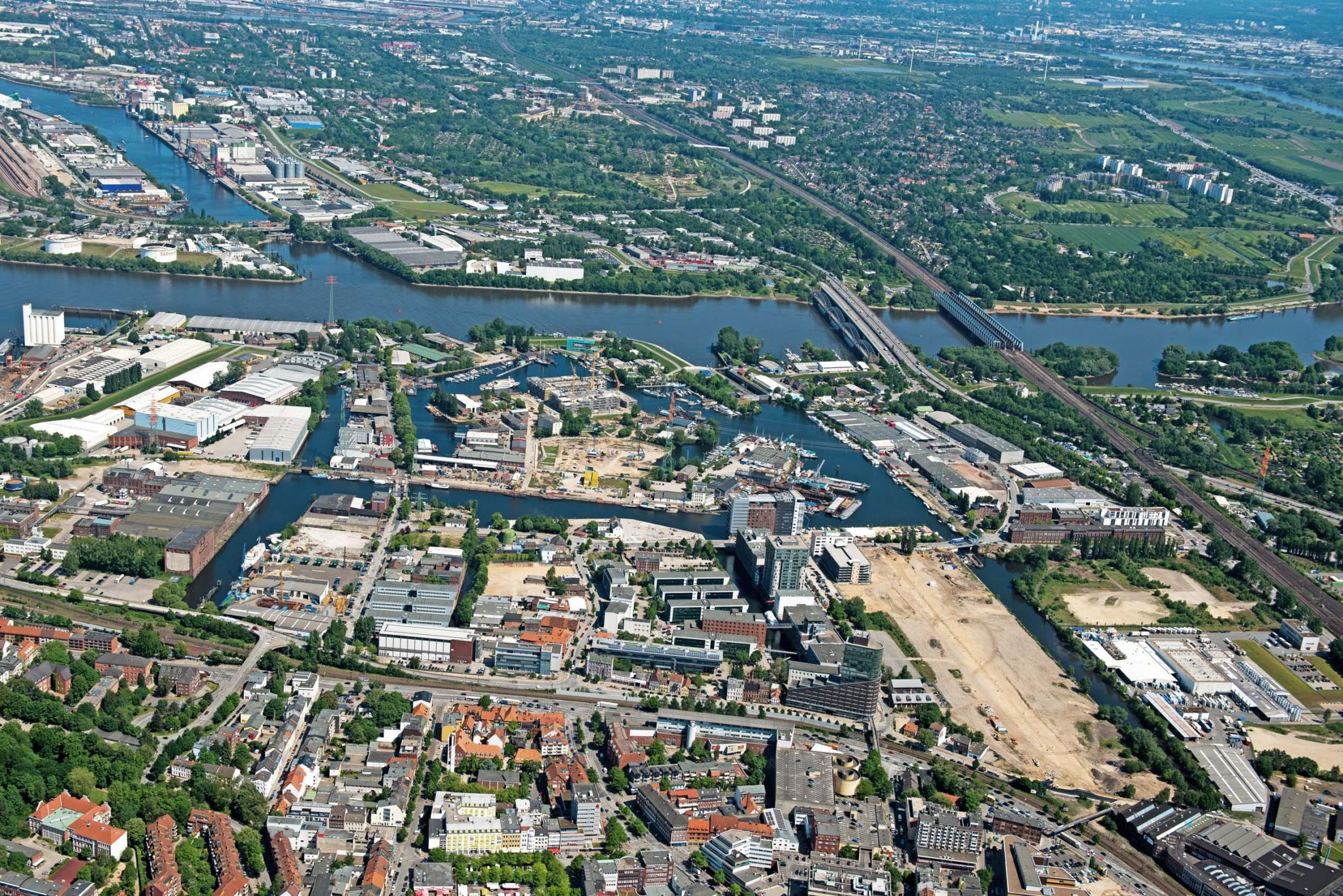 2012 – Luftbild channel hamburg